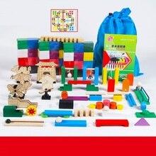 360 шт игрушки домино и хобби строительные и строительные игрушки развивающие Цветные Разноцветные
