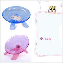 Колесо для упражнений для домашних животных, диск для хомяка, диаметр 18 см, Спортивная мышь для домашних животных, пластиковое колесо для бега, красного, синего цвета, забавная летающая тарелка