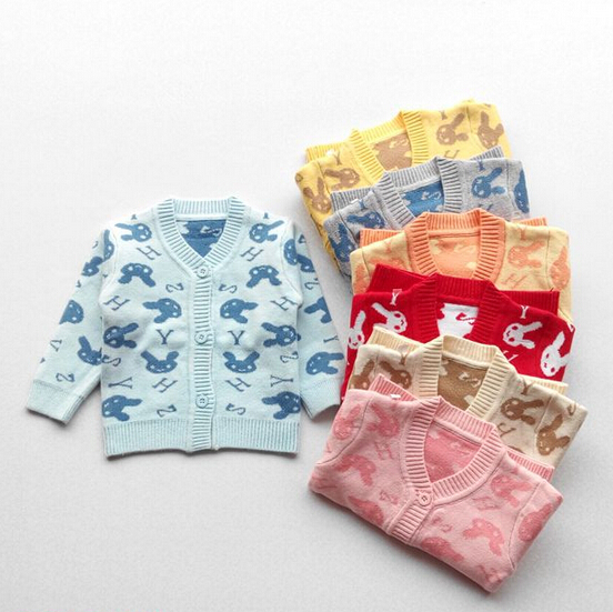 2016 Spring Autumn Buttons Baby Sweater Cardigan New Born Baby