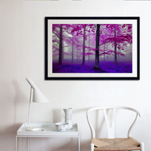 Pop Art Canvas painting  Wall Pictures for Bedroom Decorative Home Decor Frameless Purple Forest Painting