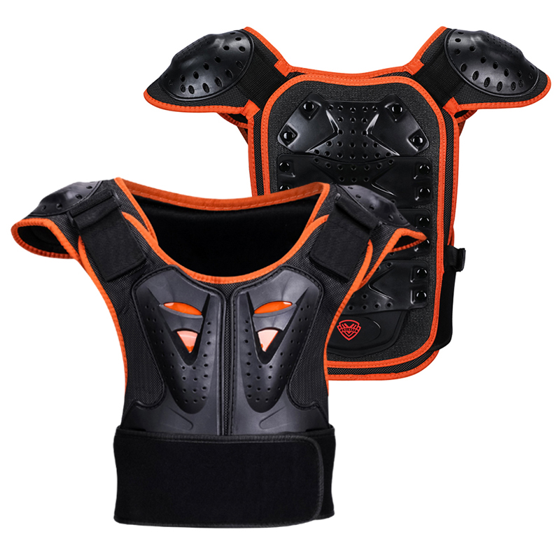 Motorcycle Armor Jacket Spine Chest Protection For Children Ice Skating/Riding Outdoor Sports Safety Protector Child Armor Vest