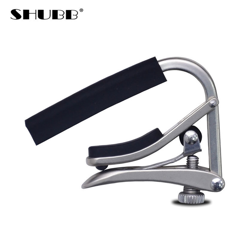 SHUBB Brand Guitar Capo Fine-tuning Design Soft Silicone Global Patent Durable Electroplating Process Guitarra Capo C1n global brand 2015 da33 440c 56hrc