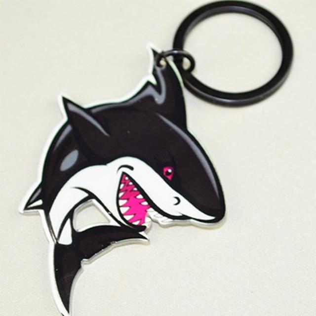 Submarine world Cartoon shark key chains High quality acrylic key ring keyholder car keychain for women