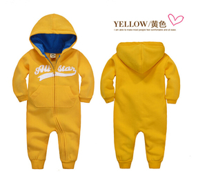 Image 4 - spring Autumn Baby rompers Hooded baby boys clothes Newborn Cotton Clothes streetwear Long Sleeve Infant Boys Girls jumpsuit