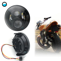 High Low beam motorcycle Headlight 7' 'inch round led light motorcycle 60W 7 inch headlamp for honda cb400 cb1300.