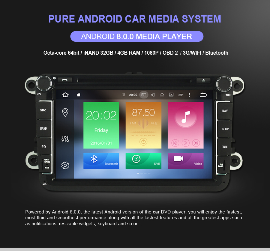 Clearance OTOJETA Android 8.0 car DVD octa Core 4GB RAM 32GB rom with IPS screen multimedia player for FIAT BRAVO 2007-2012 stereo radio 2