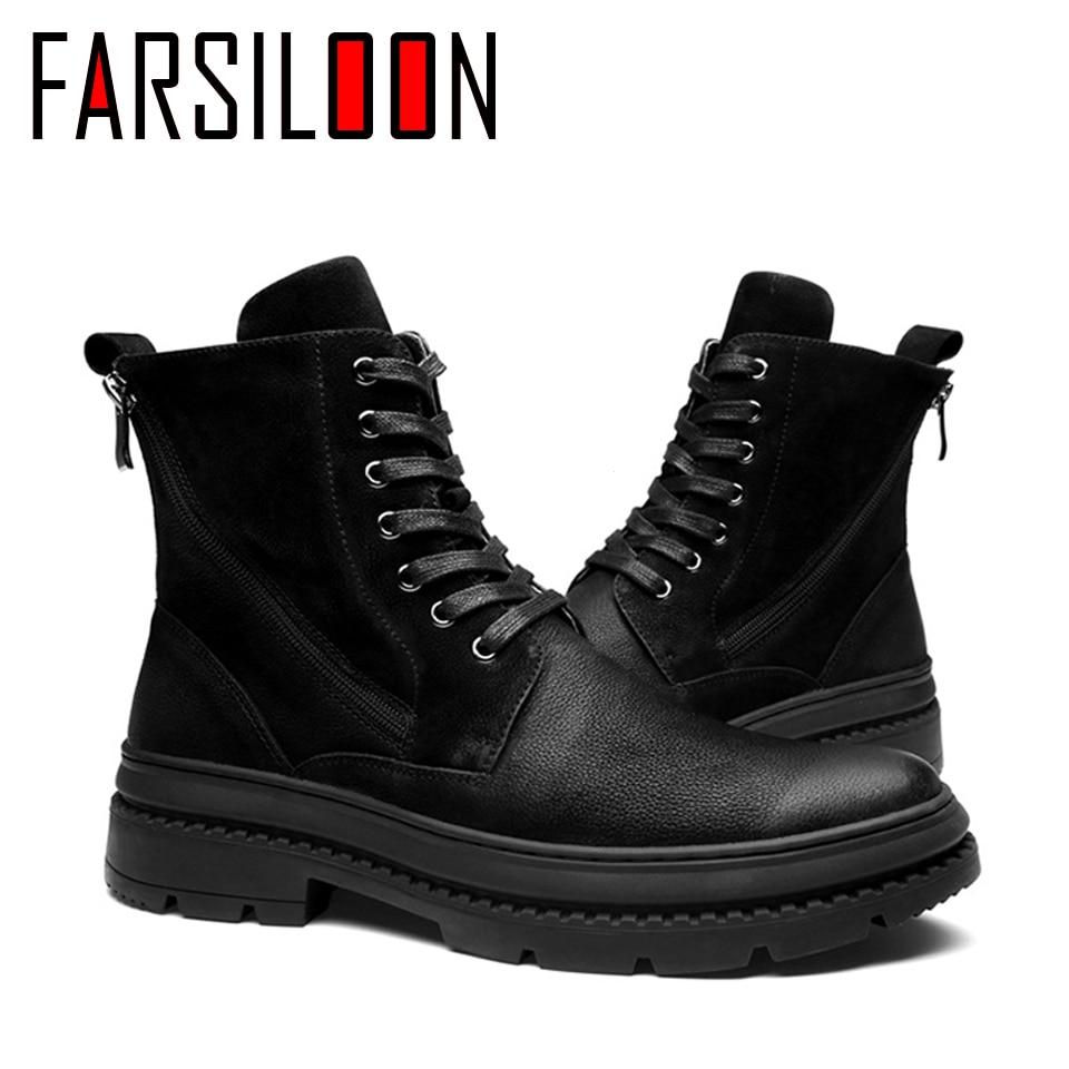 Мужские зимние ботинки martin из вельвета в английском стиле, повседневные удобные мягкие ботинки, мужские рабочие кроссовки, трендовая обувь ... - 4