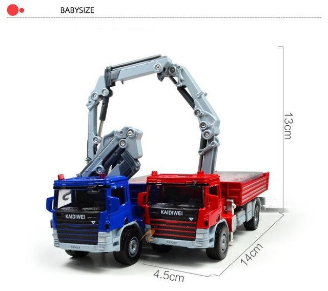 1:50 Alloy Glide Construction Vehicles Atego With Crane Car Truck Model Baby Educational Toys Gift