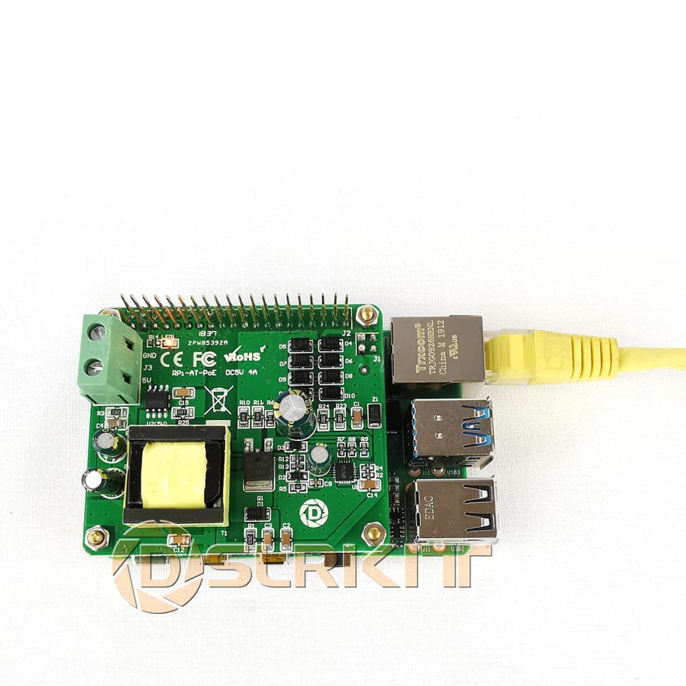 PoE Injector Power Over Ethernet Gigabit Raspberry Pi 4 4B 3B 3B Plus PoE HAT