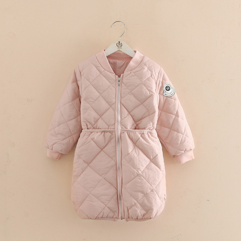 2018 New Girls Long Padded Jacket Children Winter Coat Kids Warm Thickening Down Coats For Kids Outwear Leisure Parka Kid Jacket coutudi winter jacket men 2017 new men s cotton padded jacket and coats male casual outwear warm coat solid bomber parka coats