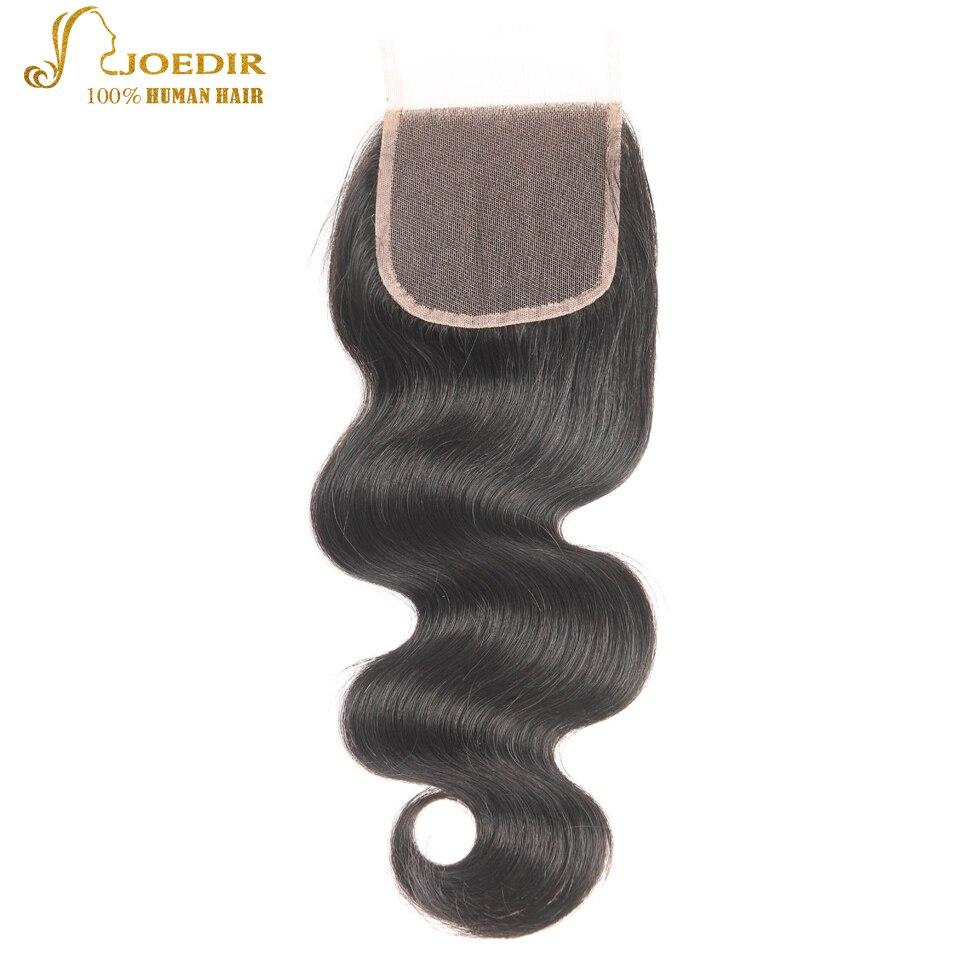 JOEDIR Hair Brazilian Body Wave Lace Closure 4x4 Fria / Mellersta / - Barbershop - Foto 2