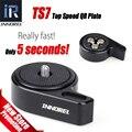 """TS7 INNOREL Baseplate Quick Release Uma Câmera Com 1/4 """"-3/8"""" parafuso Superior de Mudança de Velocidade para a Cabeça do Tripé DSLR Estabilizador Slider Jib"""