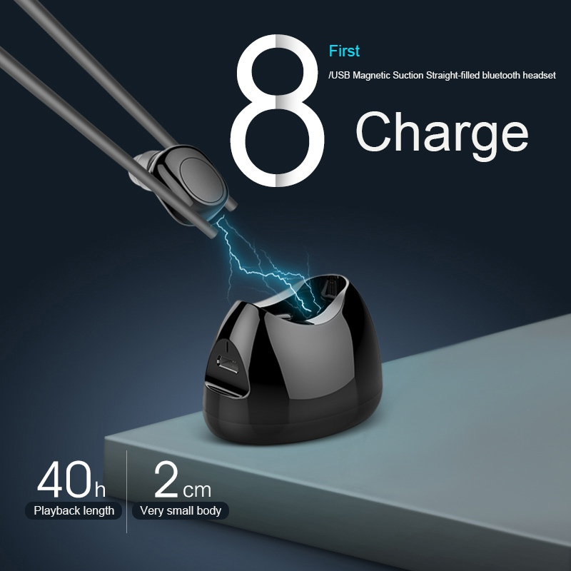 EDAL X11 Mini Bluetooth Headphone In Ear Wireless Earphone Headset Magnetic Charging Box Earpiece with Mic for IPhone X Samsung awei headset headphone in ear earphone for your in ear phone bud iphone samsung player smartphone earpiece earbud microphone mic page 3