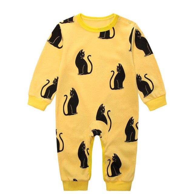 Baby Sleepers infant Romper Newborn Blanket Sleepers Round Collar Cute Unisex Baby Pyjama Unisex Baby Clothes cat print Rompers