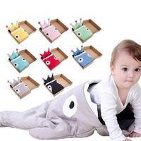 Insular Shark Brand Baby Envelope Sleeping Bag Winter Envelopes For Newborns Sleep Sack Pillow Set Warm