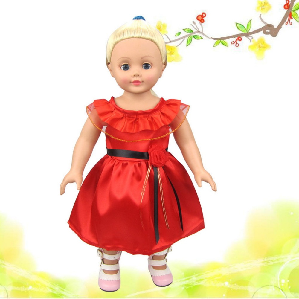 wamami Details about New Handmade Fashion Red dress skirt For 18inch American Girl Doll