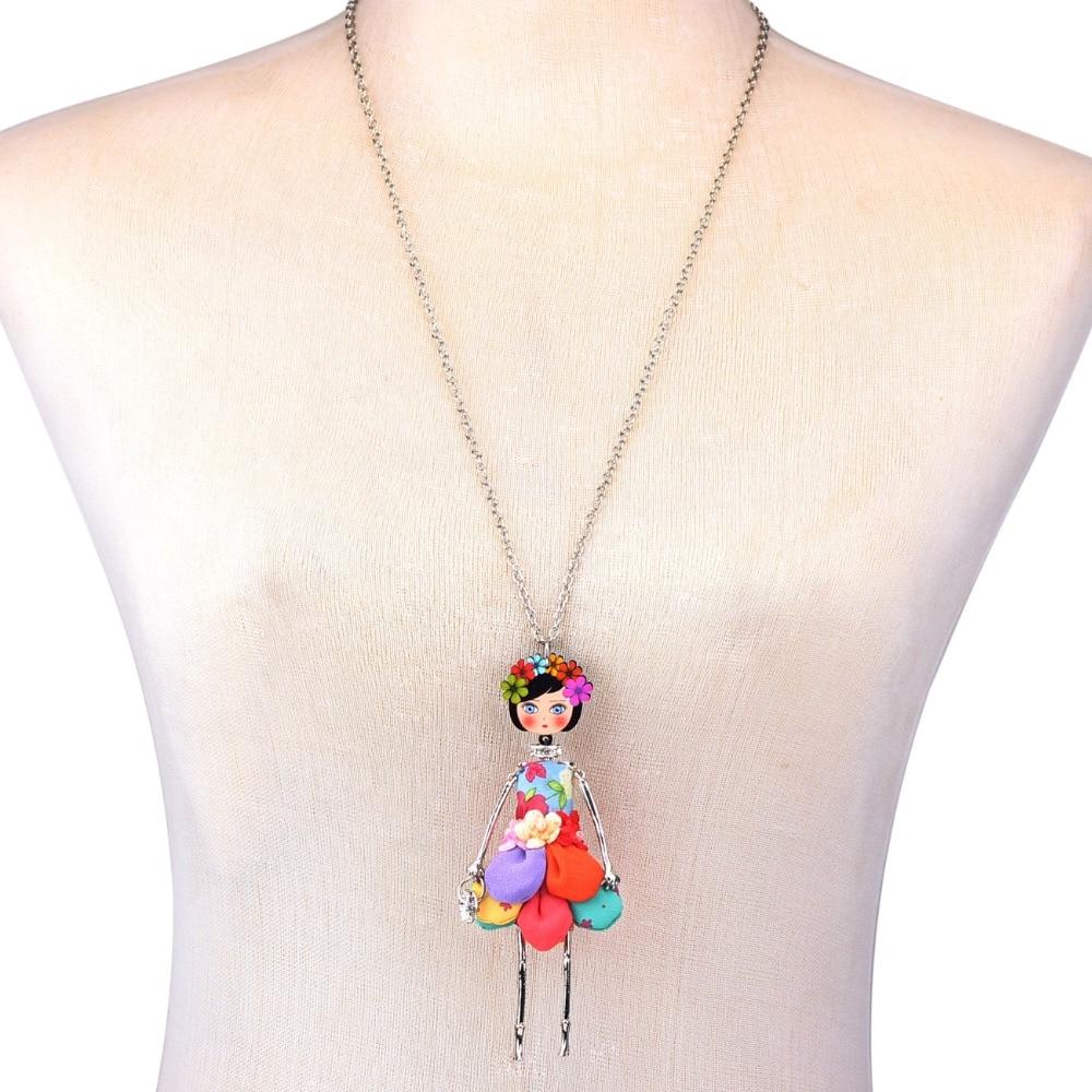 Bonsny avaldus lille nukk kaelakee kleit käsitöö prantsuse nukk - Mood ehteid - Foto 6