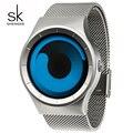SK Military Fashion Sport Reloj de Cuarzo para Hombre de Acero Inoxidable Correa Caballeros Relojes de Diseño Único A Prueba de agua Para Hombre relogio
