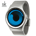 SK Moda Esporte Militar De Quartzo-Relógio para Homens de Aço Inoxidável Cinta Senhores Relógios de Design Exclusivo Dos Homens relogio À Prova D' Água