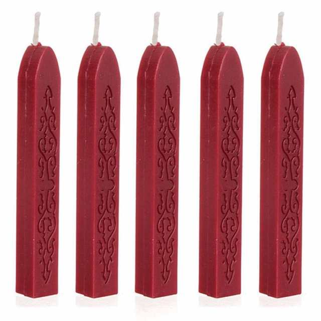 US $2 29 26% OFF|5Pcs Wine Red Manuscript Sealing Seal Wax Sticks Wicks For  Postage Letter #TX-in Stamps from Home & Garden on Aliexpress com |