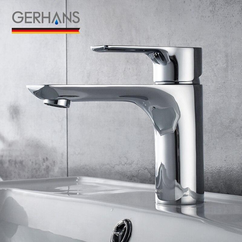 GERHANS Irismart robinet de salle de bain moderne unique de haute qualité robinet de lavabo moderne évier mélangeur grue, Chrome K11015