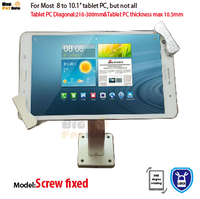 Universal Wall Mount Tablet Anti Theft Holder Security Display Tablet Kiosk Stand Tablet POS Payment Retail