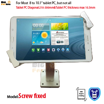 Universal wall mount tablet wall mount security anti-theft adjusted bracket 7 to 10.1 inch for Toshiba HUAWEI holder stand цена и фото