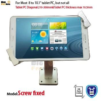 Univerzális falra szerelhető, falra szerelhető, biztonsági lopásgátlóval szerelt konzol 7-10,1 hüvelyk a Toshiba HUAWEI tartóhoz