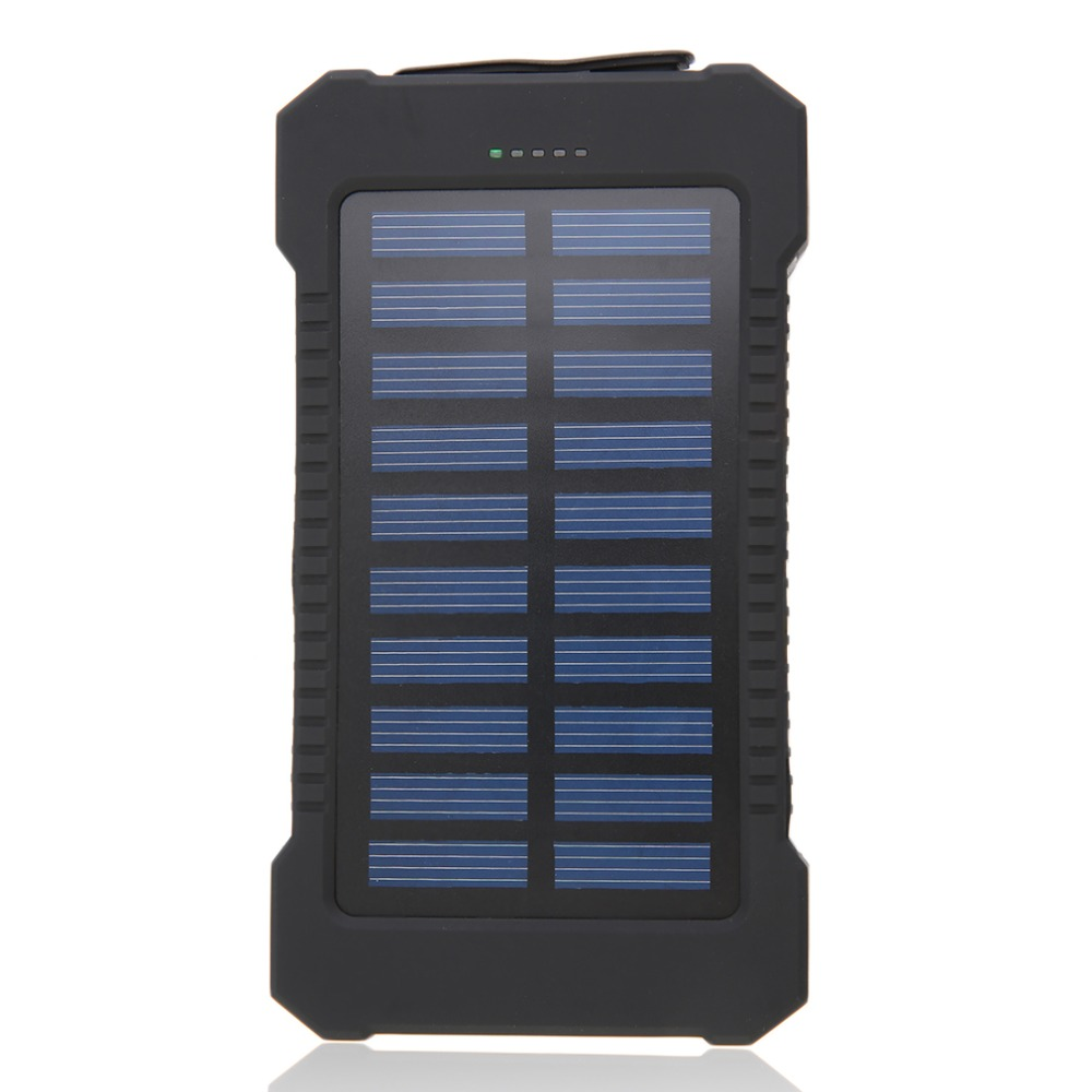 7000mAh Dual USB Portable Solar Battery Charger Solar Batteries Power Bank Solar Cells Powerbank for iphone6 7 8 X for Xiaomi