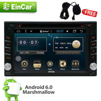 DVD Android 6 0 Player GPS Quad Core Radio 2DIN 4 Core Stereo Car Styling Cassette