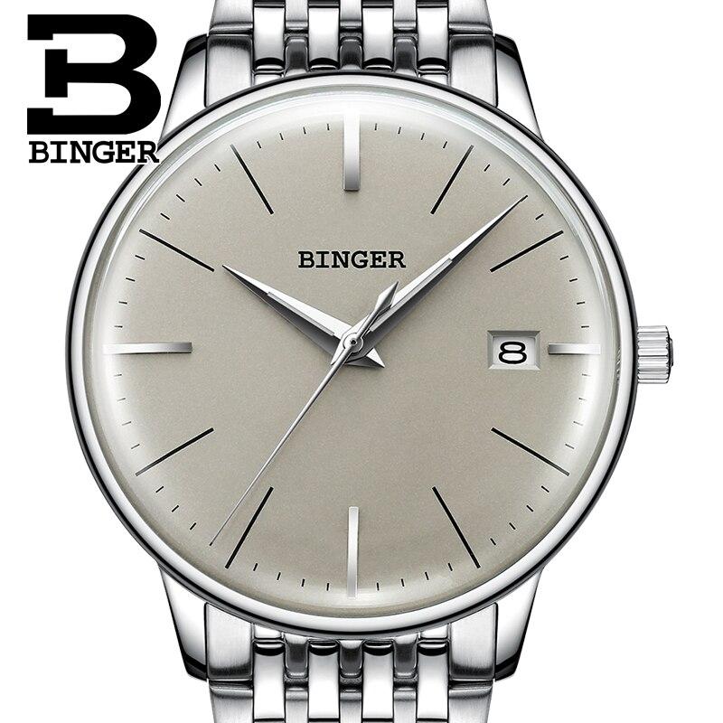 Nieuwe BINGER Mechanisch Horloge Mannen Merk Luxe heren Automatische Horloges Saffier Polshorloge Mannelijke Waterdicht Reloj Hombre B5078M 4-in Mechanische Horloges van Horloges op  Groep 3