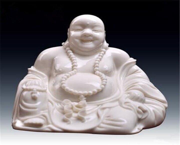 Ceramic desktop ornaments furnishing articles process Smiling Buddha maitreyaCeramic desktop ornaments furnishing articles process Smiling Buddha maitreya