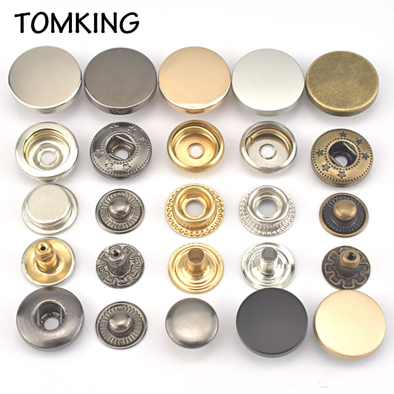 12 Sets Metal Sewing Button Snap Magnetic Fasteners Press Studs DIY 18mm #4