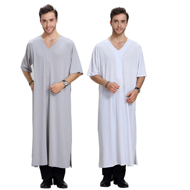 Fashion Muslim Clothing Men Robes Arab Dubai Indian Middle East Islamic Man Thobe Kaftan  7a42|mens thobe|mens kaftan|thobe men - title=