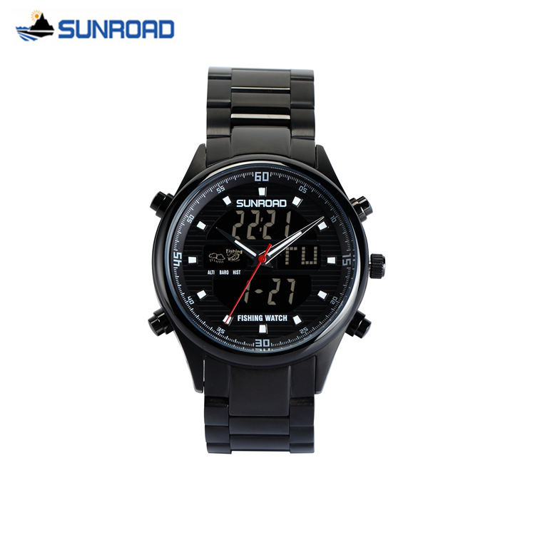SUNROAD Brand Military Watch Mens Dual Display Digital Quartz Wrist Watch Clock Men Army Sport Wristwatch Saat Relogio Masculino