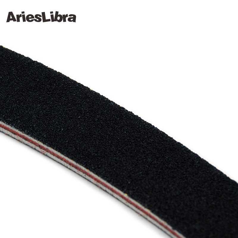 Arieslibra 1 PC Hitam Kualitas Terbaik Kuku File Buffer Akrilik Sinar UV Gel Melengkung Surat Alat Manicure Kuku Profesional File