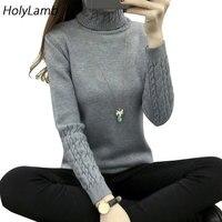2017 Sweater Woman Autumn Winter Warm Thicker Turtleneck Women S Sweater Twist Design Women Sweatshirts And
