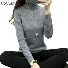 2017 Sweater Woman Autumn Winter Warm Thicker Turtleneck Women's Sweater Twist Design Women Sw and Pullovers Christmas