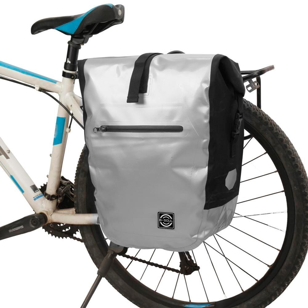 19L Large Capacity Cycling Bike Bags MTB Bike Rear Rack Bag Waterproof Road Bicycle Pannier Rear Seat Trunk Bag coolchange 50l large capacity bike bicycle rear seat bag muti function cycling pannier pack waterproof with rain cover