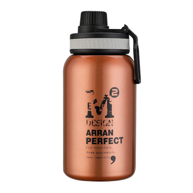 580ML/880ML Double wall Vacuum Stainless steel sports water bottle creative BPA free healthy car driving thermal water bottle 6