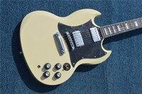 2019suneye free custom shop guitar electric guitar milk yellow sg guitar