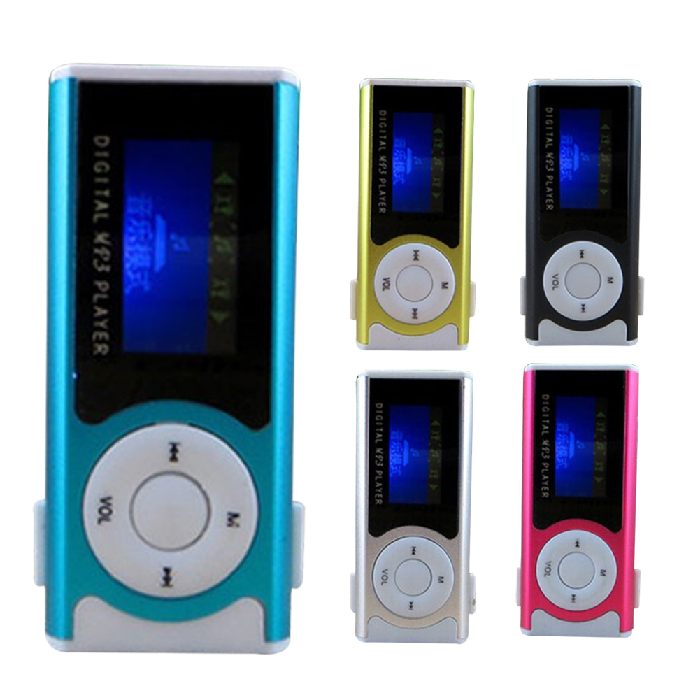 New Portable MP3 Player LCD Screen USB Mini Clip Mp3 Player Electronic Sports Music Player Support Micro SD TF Card
