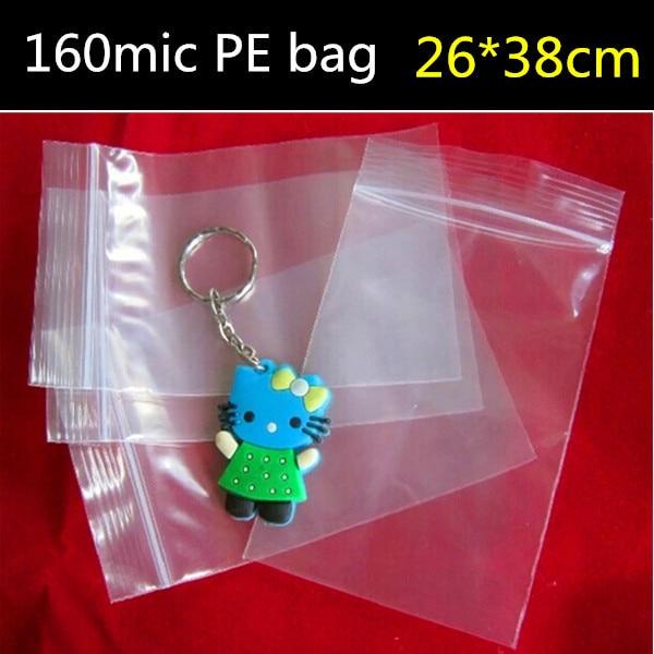 50pcs 26cm 38cm 160micron large clear plastic zip bag zip lock plastic gift bags plastic. Black Bedroom Furniture Sets. Home Design Ideas