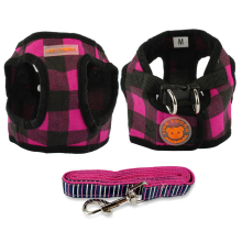 Cute, soft dog Harness + walking Leash / Lead