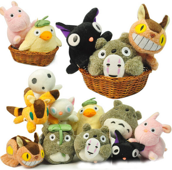 Animal My Neighbor Totoro Keychain Plush Dolls Toys Soft Stuffed Baby kids Gifts 18Pcs/set
