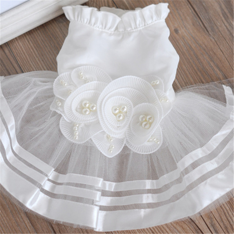 Summer Pet Dog Dress Wedding Dresses Cat Dress Skirt Puppy Clothing Spring Pet Clothes Chihuahua Yorkie Costume1