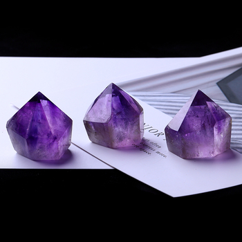 1PC Natural Amethyst Wand Quartz Crystal Repair Crystal Stone accessories Home Decor 2