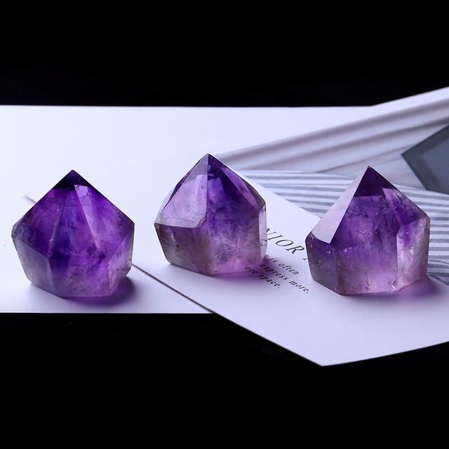 1PC Natural Amethyst Wand Quartz Crystal Repair Crystal Stone accessories Home Decor 2