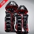 Winter fashion shiny leather plaid short male/female/couple/lover down cotton vest waistcoat men/women casual vest D2194