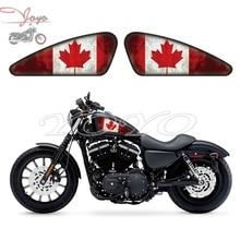 Canadá Bandera Gráficos Calcomanías Pegatinas Del Tanque de Combustible Para Harley Sportster XL 883 1200 X/V/R/N/L/C Hierro Cuarenta Y Ocho Setenta Y Dos